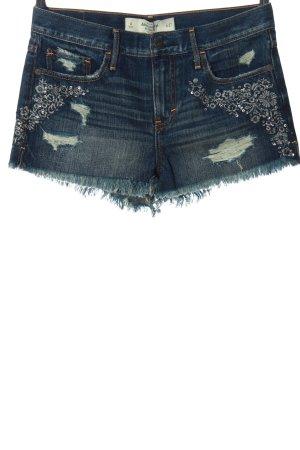 Abercrombie & Fitch Jeansshorts blau-silberfarben Casual-Look