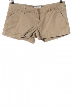 Abercrombie & Fitch Denim Shorts cream embroidered lettering casual look