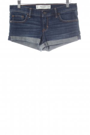 Abercrombie & Fitch Jeansshorts stahlblau Casual-Look