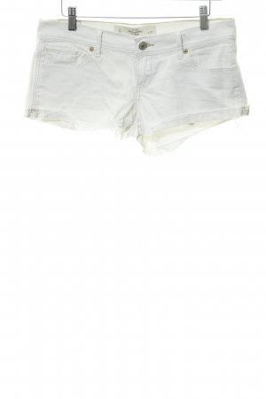 Abercrombie & Fitch Jeansshorts weiß Casual-Look