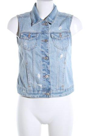 Abercrombie & Fitch Jeansweste blau Casual-Look