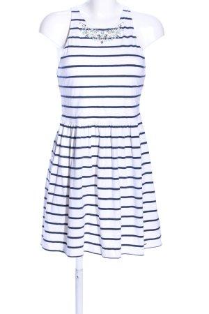 Abercrombie & Fitch Jerseykleid weiß-schwarz Streifenmuster Casual-Look