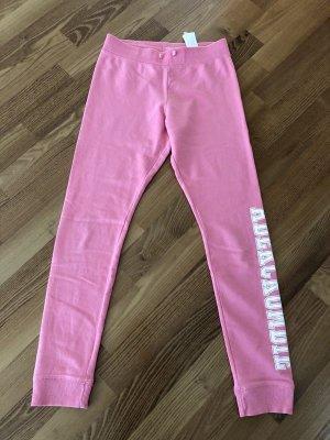 Abercrombie & Fitch Pantalón deportivo rosa tejido mezclado