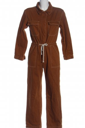 Abercrombie & Fitch Jumpsuit braun-weiß Casual-Look