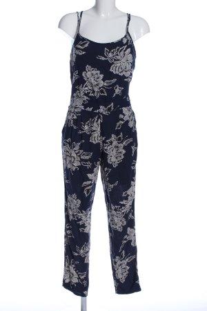 Abercrombie & Fitch Jumpsuit blau-weiß Allover-Druck Casual-Look