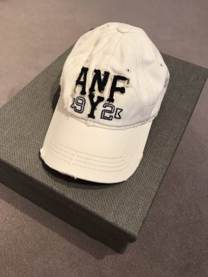 Abercrombie & Fitch Baseball Cap white-dark blue