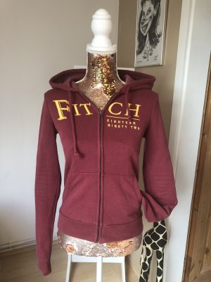Abercrombie & Fitch Hoody dark red-gold orange
