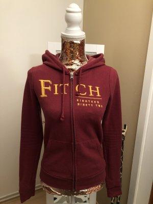 Abercrombie & Fitch Giacca con cappuccio rosso scuro-giallo-oro