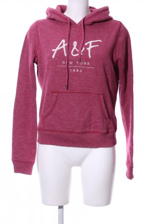 Abercrombie & Fitch Kapuzenpullover pink meliert Casual-Look