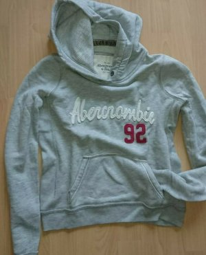 Abercrombie & Fitch Kapuzenpullover Damen Hoodie Kapuzensweater Gr. M., Grau