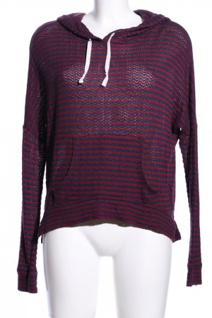 Abercrombie & Fitch Capuchon sweater roze gestreept patroon casual uitstraling