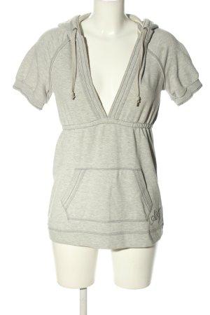 Abercrombie & Fitch Camicia con cappuccio grigio chiaro stampa integrale