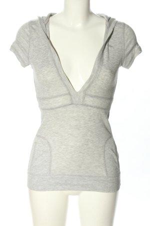 Abercrombie & Fitch Camicia con cappuccio grigio chiaro puntinato stile casual