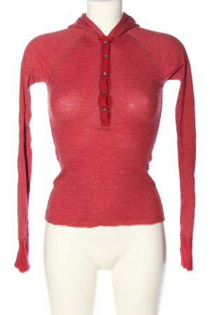Abercrombie & Fitch Blusa con capucha rojo look casual