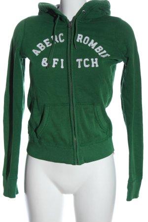 Abercrombie & Fitch Kapuzensweatshirt grün meliert Casual-Look