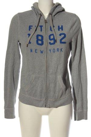 Abercrombie & Fitch Sweat à capuche gris clair moucheté style décontracté