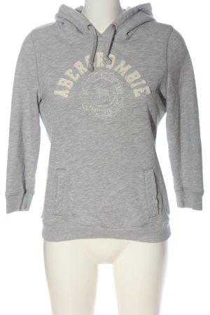 Abercrombie & Fitch Kapuzensweatshirt hellgrau meliert Casual-Look