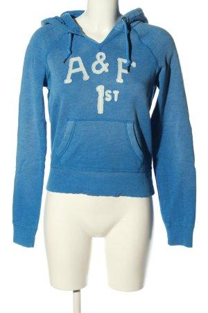 Abercrombie & Fitch Kapuzensweatshirt blau meliert Casual-Look