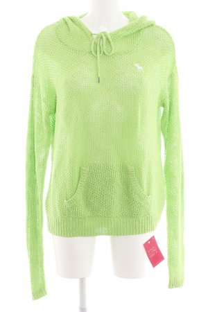 Abercrombie & Fitch Kapuzensweatshirt grün Casual-Look