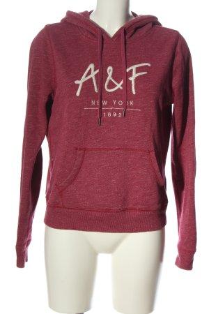Abercrombie & Fitch Kapuzensweatshirt pink meliert Casual-Look