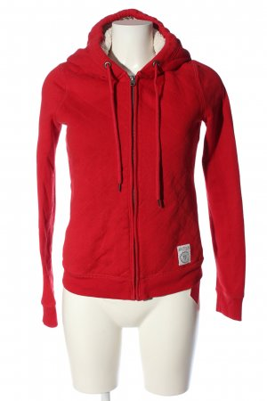 Abercrombie & Fitch Bluza z kapturem czerwony Pikowany wzór W stylu casual
