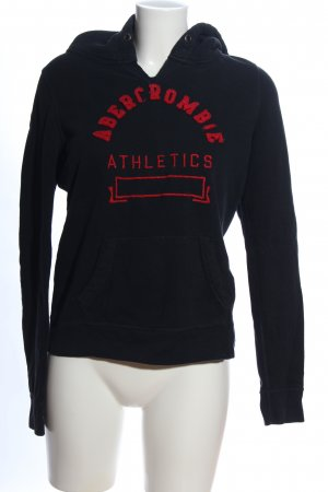 Abercrombie & Fitch Hooded Sweatshirt blue embroidered lettering casual look