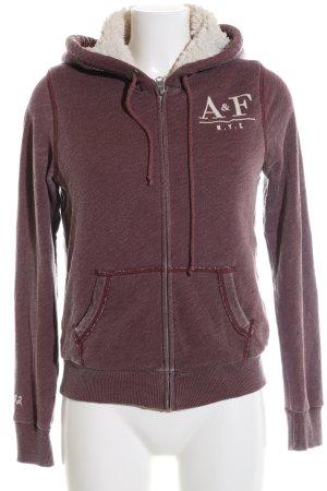 Abercrombie & Fitch Kapuzensweatshirt braun meliert sportlicher Stil
