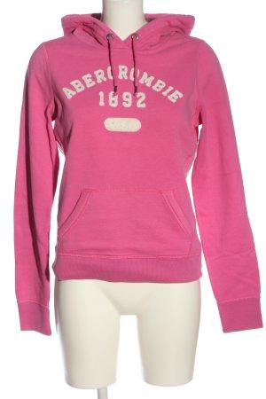 Abercrombie & Fitch Kapuzensweatshirt pink-wollweiß Casual-Look