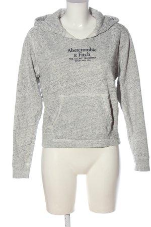 Abercrombie & Fitch Kapuzensweatshirt hellgrau-blau meliert Casual-Look