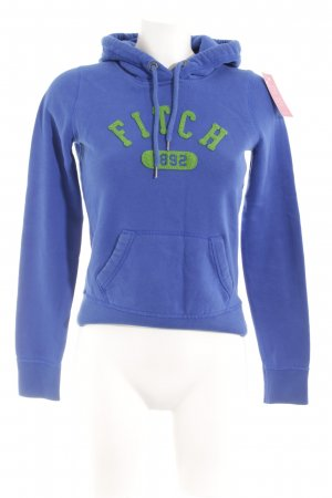 Abercrombie & Fitch Hooded Sweatshirt blue-grass green casual look