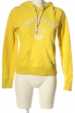Abercrombie & Fitch Kapuzensweatshirt blassgelb-wollweiß Casual-Look