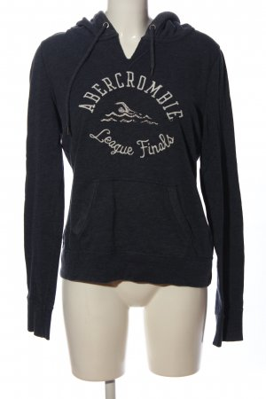 Abercrombie & Fitch Hooded Sweatshirt black flecked athletic style