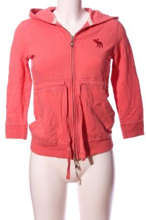 Abercrombie & Fitch Sweat à capuche rose style athlétique