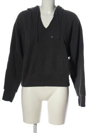 Abercrombie & Fitch Sudadera con capucha negro elegante