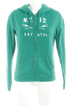Abercrombie & Fitch Kamizelka z kapturem zielony W stylu casual