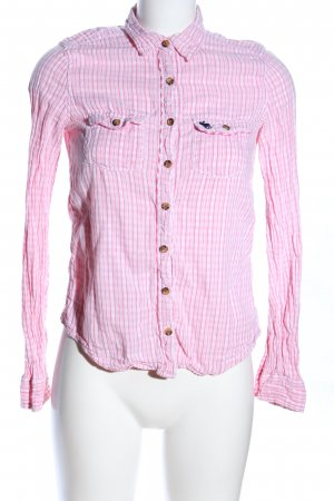 Abercrombie & Fitch Geruite blouse roze geruite print casual uitstraling