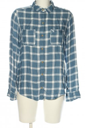 Abercrombie & Fitch Karobluse blau-weiß Karomuster Casual-Look