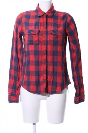 Abercrombie & Fitch Karobluse rot-blau Karomuster Casual-Look