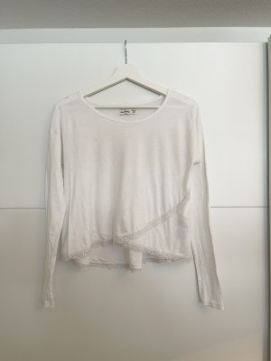 Abercrombie & Fitch Cowl-Neck Shirt white