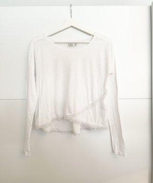 Abercrombie & Fitch Camisa con cuello caído blanco