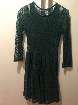 Abercrombie & Fitch Lace Dress forest green
