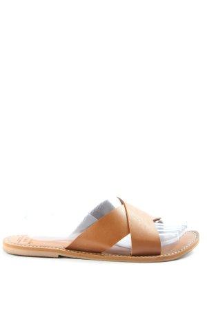 Abercrombie & Fitch Komfort-Sandalen hellorange Casual-Look