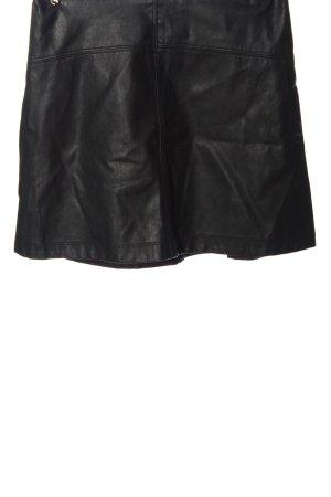 Abercrombie & Fitch Kunstlederrock schwarz Casual-Look