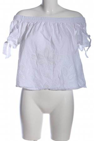 Abercrombie & Fitch Kurzarm-Bluse weiß Casual-Look