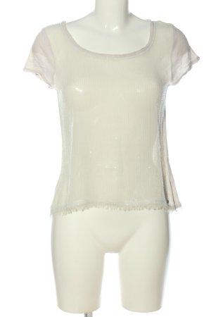 Abercrombie & Fitch Blusa de manga corta blanco puro moteado look casual