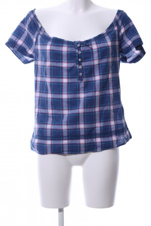 Abercrombie & Fitch Kurzarm-Bluse Allover-Druck Casual-Look