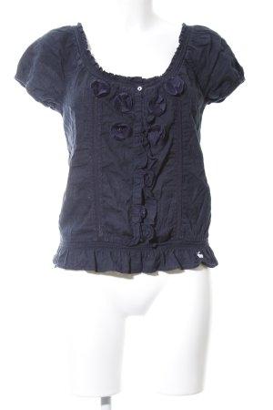 Abercrombie & Fitch Kurzarm-Bluse blau Casual-Look