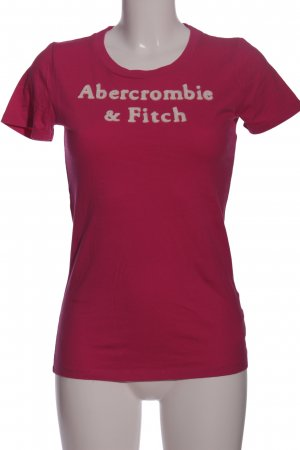 Abercrombie & Fitch Kurzarm-Bluse pink-creme Casual-Look