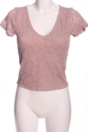 Abercrombie & Fitch Kurzarm-Bluse pink Party-Look