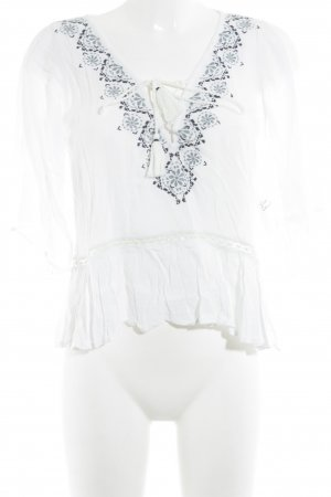 Abercrombie & Fitch Kurzarm-Bluse mehrfarbig Casual-Look
